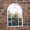 Espejo colgante antiguo barato de la pared del jardín del metal