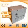 Batterie rechargeable de panneau solaire de la batterie d'acide de plomb 12V 50ah de Futuresolar