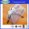 Scheda trasparente su ordinazione del PVC