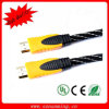 Oro Plated 1.4V Nylon Braid Male a Male HDMI Cable per HDTV 1080P PS3