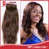 自然な毛の織り方100%のブラジルのインドのバージンのRemyの毛の拡張