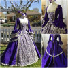 R-088 19 Century Lila Vintage Costume 마리아 Antoinette Gown 1860 년대 Victorian Lolita/Civil War Renaissance Dress Halloween Dresses All Size