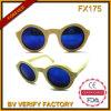 Fx175 vendem por atacado em óculos de sol polarizados da alta qualidade de China bambu redondo