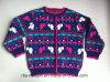 女の子のための子供のセーターのIntarsiaの効果