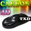 Лоснистое Black 4D Carbon Fiber Vinyl для стикера Car обруча Auto с Air Free Bubbles