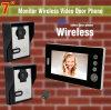 7 monitor video sem fio da câmera 1 do telefone 2 da porta da polegada