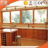 Il pino/teck/quercia/larice naturali hanno incluso la finestra placcata di legno della lega di alluminio, finestra scivolante altamente elogiata