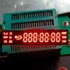 Visualizzazione di LED di segmenti della cifra di colore rosso 7