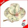 Sombrero de la mujer, sombrero de vaquero. Sombrero de papel