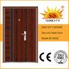 中国の鋼鉄ドアの低価格の写真の鋼鉄グリルのドアデザイン(SC-S022)