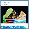 Sapatas High-Top do diodo emissor de luz da forma para homens