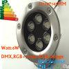 낮은 전압 12V 스테인리스 IP68 6W LED 수중 백색 반점 빛