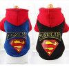 Nouveau design Super Man Pet Clothes Hoodie Manteau de chien