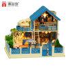 Boneca de madeira Hosue do enigma DIY do brinquedo 3D de China para o curso do presente do ano novo feliz da instrução do miúdo ao mar de Agean