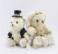 Het gevulde Huidige Stuk speelgoed van het Paar van de Teddybeer van de Paren van de Ambachten van de Giften van het Huwelijk van Doll van Dieren