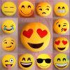 Brinquedo enchido 8inch redondo de Emoji da cor do amarelo da esfera