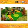 de 114mm Gegalvaniseerde Post Kleurrijke Apparatuur van de Speelplaats van de Kinderen van de Reeks van het Kasteel Openlucht