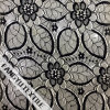 Tessuto di nylon del merletto di disegno di figura dei fiori e dei fogli