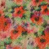 Couro colorido do plutônio da flor da forma para bolsas das sapatas