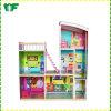 Chalet de madera de la casa de muñeca del nuevo de MOQ juguete inferior de los niños DIY