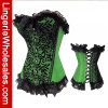 Madame Green avec le corset sexy de lingerie noire de lacet