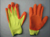 latex orange Glove-5242 enduit de doublure du polyester 10g. ou