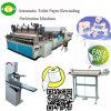 Máquina caliente de la fabricación de papel el rebobinar del papel higiénico de la venta