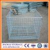 Jaula del almacenaje del almacén del balanceo/envase plegables de acero del alambre del sistema del tormento del apilado del almacén
