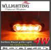 LEDの表面の台紙のストロボライト/Grilleこはく色の極度の薄いライト