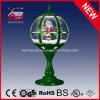 Santa Clasu ondulant la lampe de table ronde de décoration de Polyresin