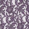 Tessuto floreale viola del merletto della maglia per l'indumento, tenda, decorazioni della Tabella
