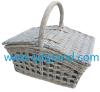 Lid를 가진 고리 버들 세공 Storage Basket