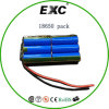 Reeksen van de Batterij van het lithium vergelijken de Ionen en Pak van de Batterij van 18650 Zak het Navulbare