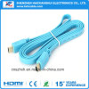 Cable plateado oro plano de Version1.4 HDMI con 3D