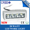 Mini diodo emissor de luz Work Light Bars do CREE 20W para Marine/4X4 Vehicles