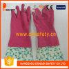 Розовые перчатки DHL710 домочадца латекса латекса домочадца