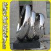 Grande sculpture publique contemporaine en jardin en métal d'acier inoxydable