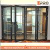 Portelli scorrevoli di vetro del portello di piegatura della Camera del portello di alluminio moderno di disegno