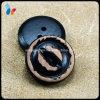 Botón de madera natural de 2 orificios de la piel artificial
