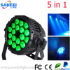 Wasserdichtes 5in1 LED Full Color 18PCS*10W PAR Light