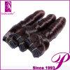 卸し売りよい厚く100純粋なインドのRemyのバージンの人間の毛髪のよこ糸