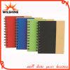 Ausgabe-gewundenes Notizbuch mit Papierfeder für Förderung (SNB137)