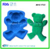Vente en gros de moule de savon de forme d'ours de silicone