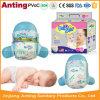 Couche-culotte remplaçable de bébé de PE de film lisse de dos, couche confortable personnalisée de bébé