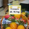 Suporte de etiqueta plástico do preço da fruta em prateleiras