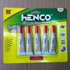 5PCS/Card Glue super Bonding Glue em Aluminum Tube