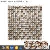 Marmo e Shell Glass Metal Square Mosaic Tile