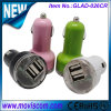 USB Car Charger de 5V 3.1A Dual, Car Battery Charger para o iPhone, USB Mini Car Charger para Sumsung