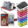 Téléphone cellulaire fou Flip Wallet Leather Point de droit Cover d'identification Credit Card Slots Holder Stand Book de Horse pour l'iPhone d'Apple 5 5s 5se