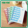 PP Cover Spiral Notebook con Any Size, School y Office y Home Spiral Notebook